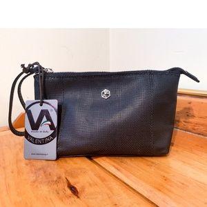 Valentina Small Black Zip Up Wristlet/Bag
